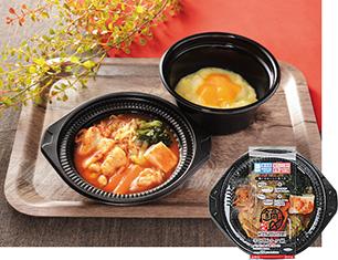 鍋から〆まで楽シメる! 辛口豚チゲ鍋(+たまご雑炊)