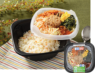 8品目野菜と牛そぼろのビビンパ丼