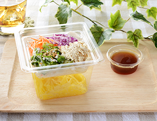 胡麻マヨ蒸し鶏のこんにゃく麺サラダ