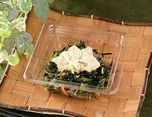 湯葉とほうれん草の和サラダ