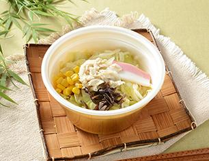 豆乳仕立てのちゃんぽん春雨スープ