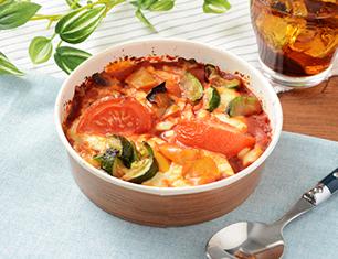 夏野菜のトマトソースグラタン