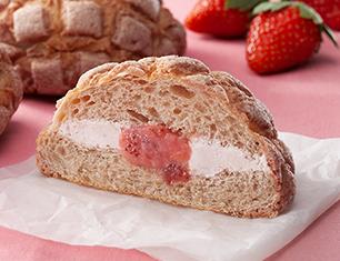 いちごづくしのメロンパン~いちごホイップ&いちごクリーム~