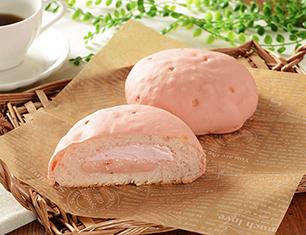 いちごづくしのしっとりメロンパン(あまおういちごクリーム&ホイップ)