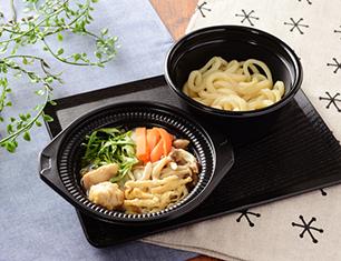 鍋から〆まで楽シメる! 鶏塩ちゃんこ鍋(うどん)
