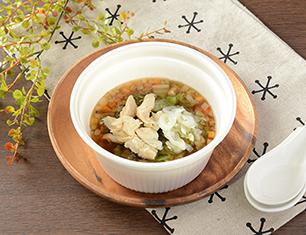 NL 鶏ささみと6種野菜のもち麦スープ
