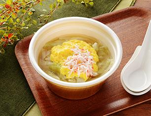 かきたまと野菜の春雨スープ