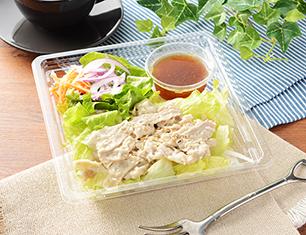 胡麻和え豚しゃぶとおろし醤油のサラダ