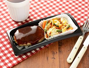 鉄板焼ハンバーグ&野菜チーズ焼