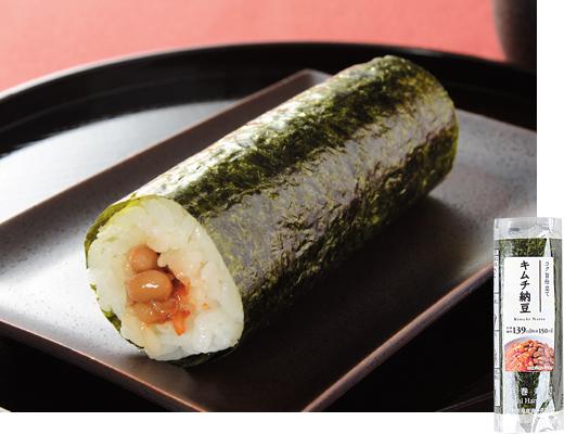 手巻寿司 キムチ納豆