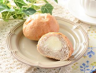 マチノパン もち麦とくるみのミルククリームパン 2個入