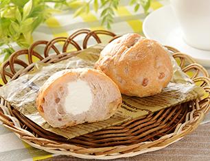 マチノパン もち麦とくるみのチーズクリームパン 2個入