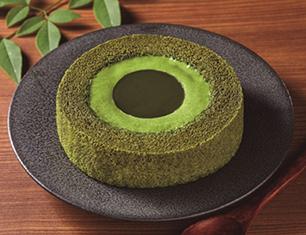 濃い茶ロールケーキ