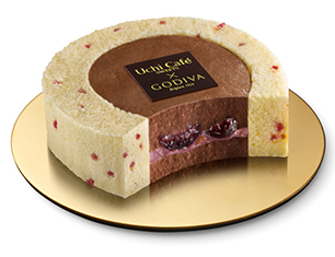 Uchi Café×GODIVA チェリーショコラロールケーキ