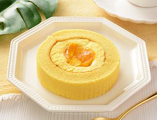 マンゴーとパッションフルーツのロールケーキ