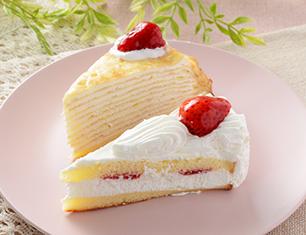 苺のショートケーキ&苺ミルクレープ