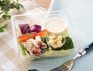ベーコンと4種野菜のシーザーサラダ
