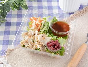 豚肉とカリカリ梅のサラダ