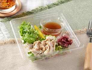 豚肉とカリカリ梅のサラダ(梅ドレッシング)