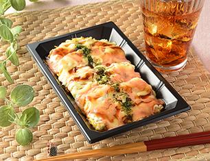 3種チーズと明太マヨのお好み焼