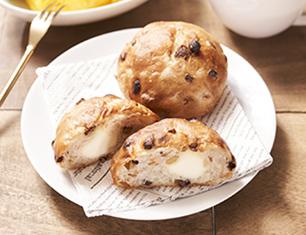 マチノパン もち麦とくるみとレーズンのクリームチーズパン 2個入