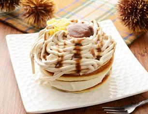 モンブランのクリームパンケーキ