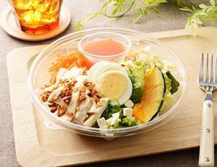 1食分のプロテインサラダ(人参ドレッシング)