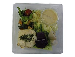 蒸し鶏のサラダ(クリーミー味噌ドレ)