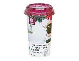 NL 生きて腸まで届くビフィズス菌 ドリンクヨーグルト 緑の野菜(スピルリナ入り) 190g