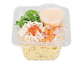 蒸し鶏と明太クリームのパスタ サラダ