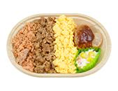 ミニ三色弁当(もち麦入りごはん)