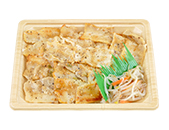 ねぎ塩ダレの直火焼豚カルビ弁当(麦めし)