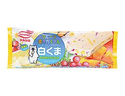 丸永製菓 フルーツ盛りだくさん白くまバー 90ml 【ローソン限定商品】