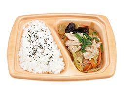 塩麹でまろやか!肉野菜炒め弁当(国産野菜)