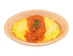 トマトソースのオムライス(ヨード卵)