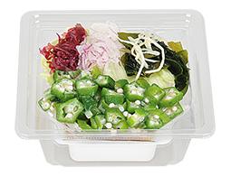 オクラと海藻の豆腐サラダ