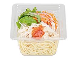 蒸し鶏のパスタサラダ(明太クリームドレッシング)