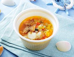 白身魚とあさりのブイヤベーススープ