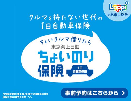 207a9f3fa3 ... Loppiで入れる東京海上日動のちょいのり保険なら1日(24時間 ...